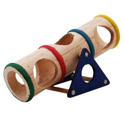 Wooden Colorful Seesaw Cage House Hide Play Toy For Hamster Mouse Mice Pet Y