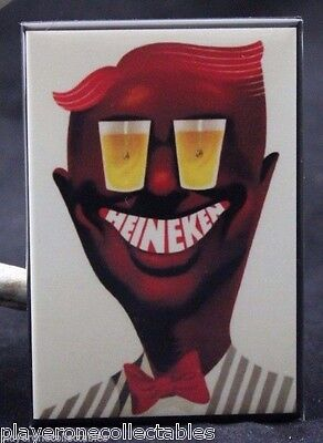 "Heineken Beer Vintage Advertising 2"" X 3"" Fridge / Locker Magnet."