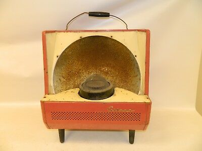 Antique Corona Japanese Paraffin Gas Oil Kerosene Heater Vintage Retro Red Old!