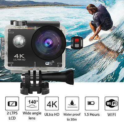 New 4K 16MP 2'' Ultra HD 1080P Sport WiFi Cam Action Camera DV Video Recorder