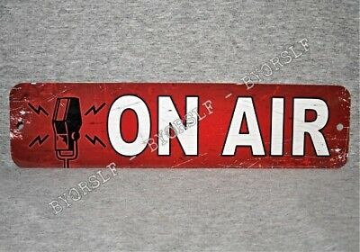 Metal Sign ON AIR radio show station broadcast live television journalism door