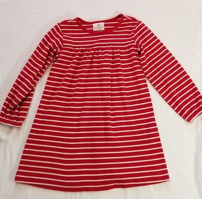 Hanna Andersson~ 110 5 Red Striped Day Dress