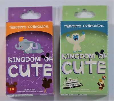 Disney Kingdom Of Cute Mystery Box Collection Series 1 & 2 Pin NEW 2 SEALED BOX