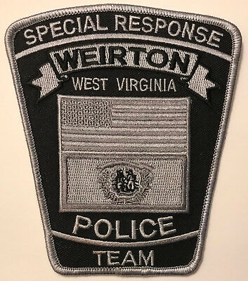 SWAT Weirton West Virginia Special Response Team Subdued Police Sheriff Patch