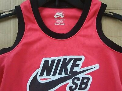 7418e961822046 NIKE SB tank top Youth Boys size M red sleeveless shirt Big Kids shoes  FREESHIPP