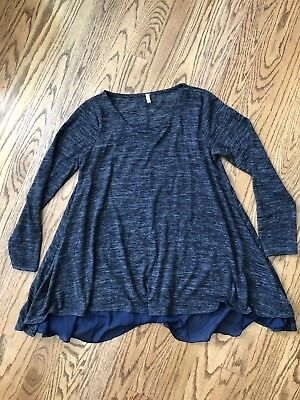 Pink blush Maternity Top Navy Blue Small Flowy