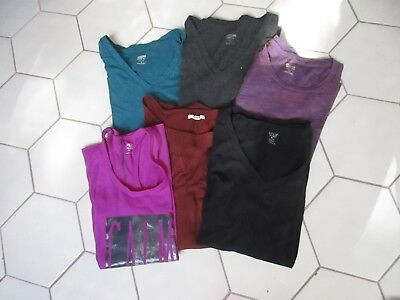 Lot of 6 pieces MOSSIMO, MAURICE, ATHLETICS Womens/Juniors Shirts Size M