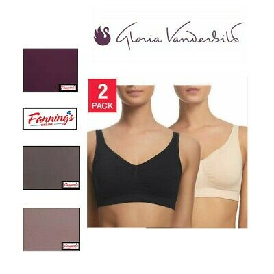 NEW Gloria Vanderbilt Two Pack Seamless Wire Free Removable Pad Bras VARIETY!!