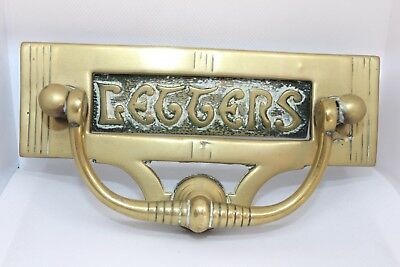 Antique Brass Letter Box and door knocker 19x6cm