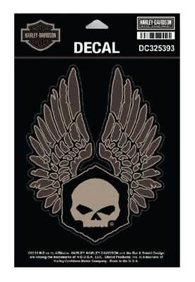 Harley-Davidson Forged Wings Decal, MD Size 4.625 x 6 in. Black & Brown DC325393