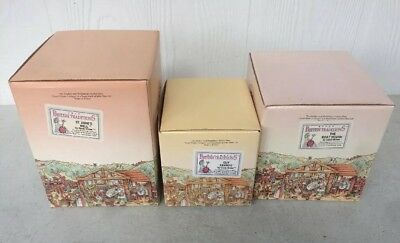 David Winter Cottages British Traditions Lot of 3 pieces- Boxes, CoAs