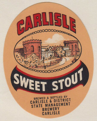 Carlisle & District State Management Brewery 1950s Sweet Stout