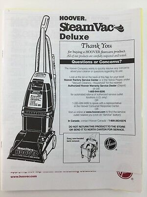 Hoover steamvac deluxe owner's manual pdf download.