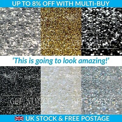 Chunky 3D Glitter Fabric Wallpaper Grade 3 - Sold by Metre Silver Black White...