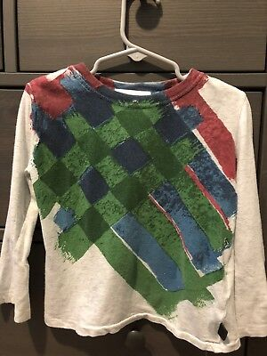 Authentic BURBERRY Boys  COTTON T- SHIRT Long SLEEVES  SIZE 4T