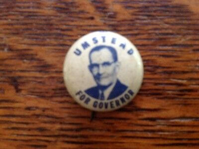 Umstead For Governor Political Button
