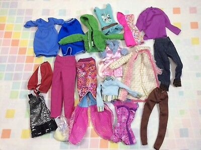 Barbie Clothes Dresses 90s Newer Shirts Dresses Fashion Clothing Mattel Vtg Lot