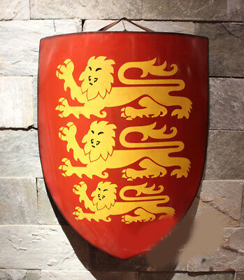 D11 Europe Retro Medieval Shield Antique Knight Armour Wall Home Decor Full Size