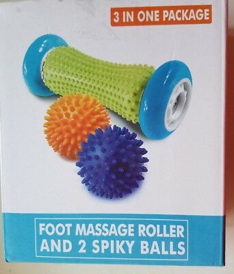 Foot Massage Roller 2 Spiky Balls Set Body and Foot Roller for Plantar Fascistic