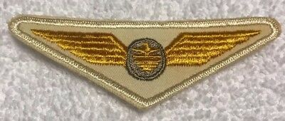 Continental Airlines White/Yellow First Officer Wing Patch Circa 1961-1967