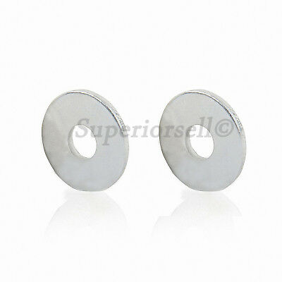 M2 to M4 Flat Washers To Fit Metric Bolts & Screws - Bright Zinc Plated Steel