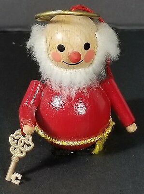 Vintage Steinbach Germany Wooden Wood Ornament Saint St. Peter