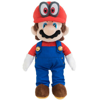 """New Little Buddy 1693 Super Mario w/ Red Cappy Hat (Odyssey Style) 13"""" Plush"""