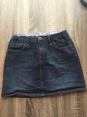 Gap Kids Denim Skirt Girls Sz 12 Dark Wash 13 inches long Adjustable Waist