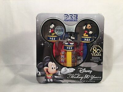 Disney Mickey Mouse PEZ Collectibles Collection 80 Years NIB 2007-FREE SHIPPING!