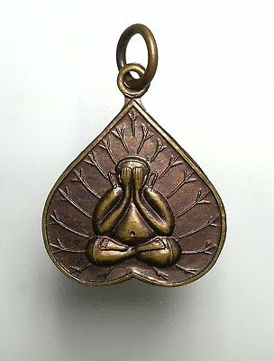 Pendant LP Phra Pidta Thai Amulet Buddha Monk Talisman Powerful Magic Holy Rich