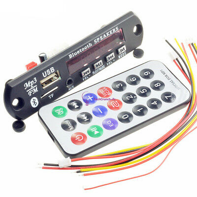 12V Car Wireless MP3 WMA Audio Decoder Board USB TF FM Radio Module