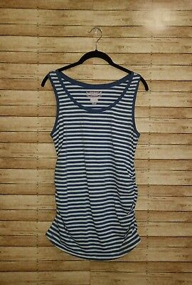 Great Expectations Size M 8-10 Maternity Tank Top Blue White Striped