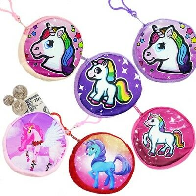 Unicorn Coin Purse Keychain w/ Zipper & Clip (Pack of 48)