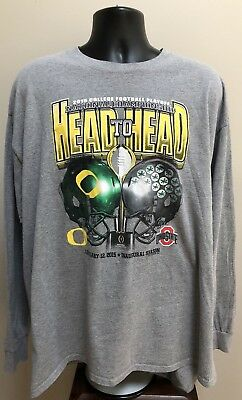 Ohio State Oregon 2015 College Football Championship Long Sleeve T-Shirt 2XL