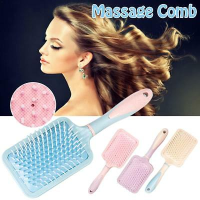 Wheat Straw Plastic Airbag Color Rubber Large Board Comb Anti-knot Massage Comb