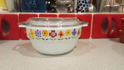 JAJ Pyrex Milk Glass with Tiny Flowers