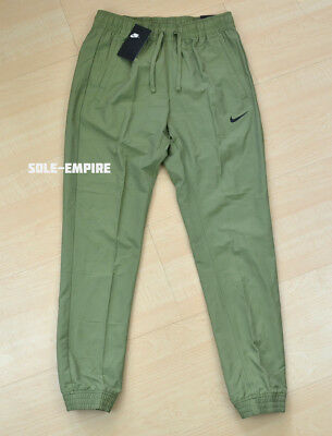 Nike Woven Slim Fit Jogger Pants 934592-385 Army Green Olive Mens NEW SALE