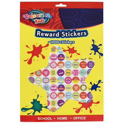 1000 Reward Stickers Bulk School Teacher Merit Resource Good Children Parents