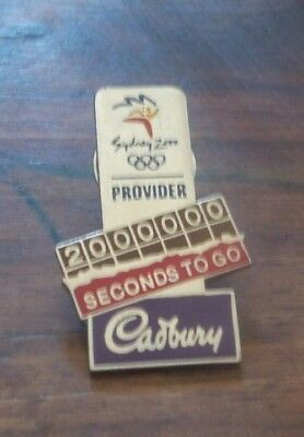 Rare Cadbury 2000000 Seconds To Go Sydney Olympic Games 2000 Pin Collect #665