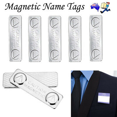5pcs Magnetic Name Tags Badge  self - adhesive Fastener ID Holder Card Strong