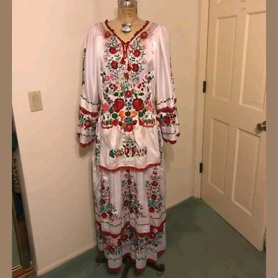 Vintage Rare Hungarian Hand Embroidered Hand Made Traditional Folk Dress