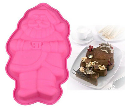 Christmas Silicone Mould, Chocolate Cake Jelly Muffin, 'Santa Claus Shape'