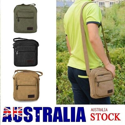 Retro Men's Canvas Shoulder Messenger Bag Military Tactical Satchel Man's Bag AU