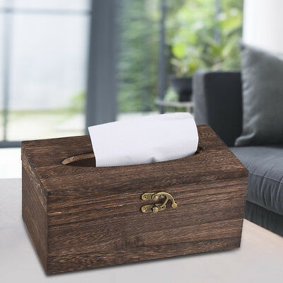 Wooden Retro Tissue Box Paper Napkin Holder Case Home Car Decor 22*12*10cm Gift