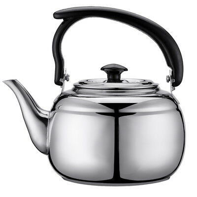 Whistling Kettle Stainless Steel Camping Kitchen Tea Coffee Water Pot 1L