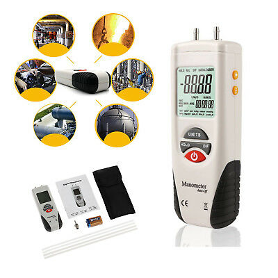LED Digital Manometer Gauge HVAC Gas Tester Manometer Air  Pressure Meter NEW