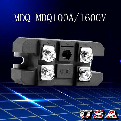 Durable Single Phase Diode Bridge Rectifier 100A MDQ150A 1600V High Power US