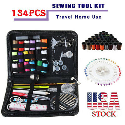 134Pcs/Set Portable Sewing Kit Needlework Thread With Zipper Bag For Home Travel