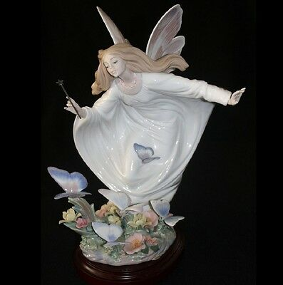 Lladro #1850 Fairy Of The Butterflies Bnib Flower Limited Ed. Rare Free Shipping