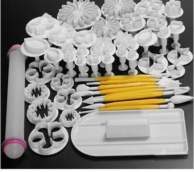 Cake Decorators Plungers Sugar-crafts Mold Cutters Baking Pastry Tools 46pcs/set